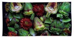 Artichoke Art Beach Towel