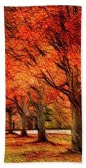 Artistic Four Fall Trees Beach Towel