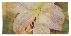 Artistic White Lily Beach Towel
