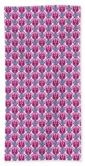 Pretty Pink Triceratops Beach Towel