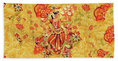 Ganges Flower Beach Towel