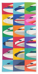 Airline Livery Minimal Beach Towel