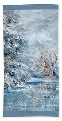 In The Snowy Silence Beach Towel