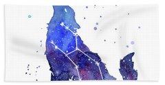 Galaxy Wolf - Lupus Constellation Beach Towel