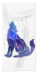 Galaxy Wolf - Lupus Constellation Beach Towel