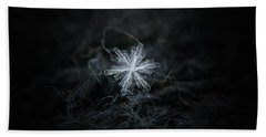 Beach Towel featuring the photograph Real Snowflake - 18-dec-2018 - 3 by Alexey Kljatov