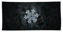 Beach Towel featuring the photograph Real Snowflake - 26-dec-2018 - 1 by Alexey Kljatov