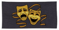 Live Theater Beach Towels