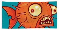 Pufferfish Beach Towel