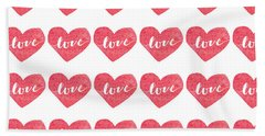 Beach Towel featuring the digital art Love Is In The Air by Bee-Bee Deigner