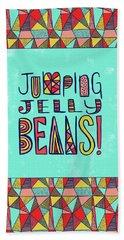 Jumping Jelly Beans Beach Towel