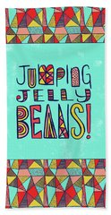 Jumping Jelly Beans Beach Towel