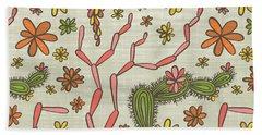 Flowering Cacti Elements Beach Towel