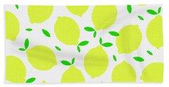 Sunny Lemon Pattern Beach Towel