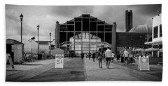 Beach Towel featuring the photograph Asbury Park Boardwalk by Steve Stanger