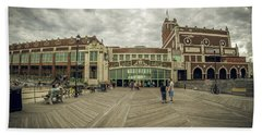 Beach Towel featuring the photograph Asbury Park Convention Hall by Steve Stanger