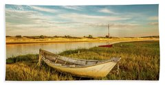 Beach Towel featuring the photograph Ashore by Jeff Sinon