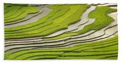 Asian Rice Field Beach Towel