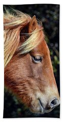Beach Towel featuring the photograph Assateague Pony Sarah's Sweet Tea Profile by Bill Swartwout Fine Art Photography