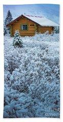 Assiniboine Hut Beach Towel