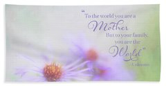 Asters For Mother's Day Beach Towel
