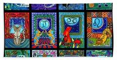 Astrology Cat Zodiacs Beach Towel