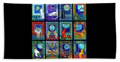 Astrology Cat Zodiacs Beach Towel