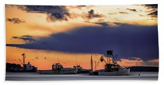 Beach Towel featuring the photograph At Anchor At Lookout Point by Rick Berk