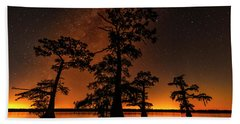 Atchafalaya Basin On Fire Beach Towel