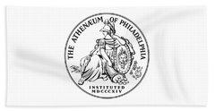 Athenaeum Of Philadelphia Logo Beach Sheet
