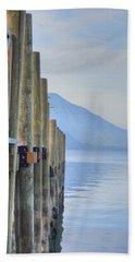 Atitlan Pier Beach Towel