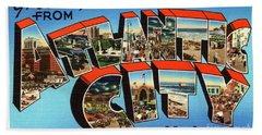 Atlantic City Greetings #3 Beach Sheet