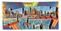 Atlantic City Greetings #4 Beach Sheet