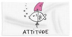 Attitude - Baby Room Nursery Art Poster Print Beach Sheet