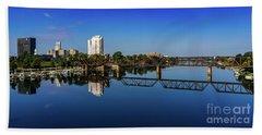 Augusta Ga Savannah River Panorama Beach Towel