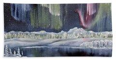 Beach Towel featuring the painting Aurora Borealis by Deleas Kilgore