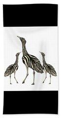 Australian Bustard Zebra 3 Beach Towel