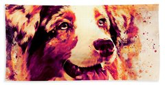 Australian Shepherd Dog 2 Wslsh Beach Towel