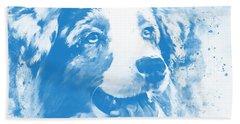 Australian Shepherd Dog 2 Wswb Beach Towel