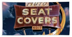 Beach Towel featuring the photograph Auto Seat Covers by Robert FERD Frank