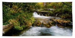 Beach Towel featuring the photograph Autumn Along The Provo Deer Creek by TL Mair