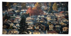 Beach Towel featuring the photograph Autumn At Home by Juan Contreras