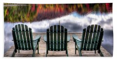 Beach Towel featuring the photograph Autumn At The Lake by David Patterson