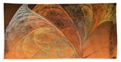 Autumn Breeze Fractal Beach Towel