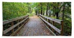 Autumn Bridge Beach Sheet