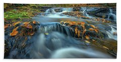 Beach Towel featuring the photograph Autumn Cascade In Vaughan Woods by Rick Berk