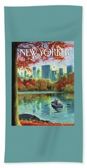 Autumn Central Park Beach Towel