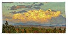 Autumn Clouds Over Maine Beach Sheet