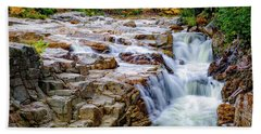 Beach Towel featuring the photograph Autumn Color At Rocky Gorge by Jeff Sinon