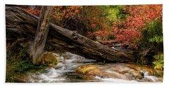 Autumn Dogwoods Beach Sheet